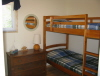 Buck Lake Cottage Rental #3-15 Bedroom upstairs with Single Bunks