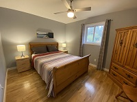 /buck lake cottage rental 31~Bedroom Downstairs, Double Bed