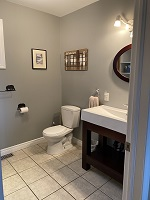 /buck lake cottage rental 31~Four piece bathroom upstairs