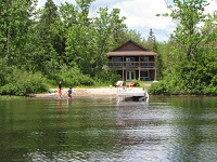 Buck Lake Cottage Rental 31~ Cottage Exterior taken From Beach