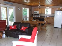 Buck Lake Cottage Rental #7-11~ Living/Dining/Kitchen