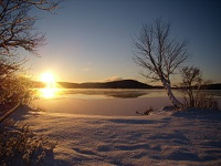 buck lake cottage rental 7 Winter sunrise