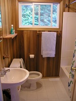 three mile lake cottage rental 22~Main Floor Bathroom