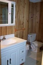 three mile lake cottage rental 22~ lower level 3pc bathroom