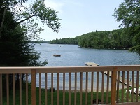 three mile lake cottage rental 22 ~ View of Lake from Deck
