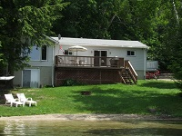 three mile lake cottage rental 22~Cottage Exterior, Lake Side