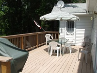 three mile lake cottage rental 22~Deck
