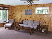 three mile lake cottage rental 22~Living Room