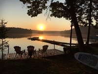 three mile lake cottage rental 8~Deck